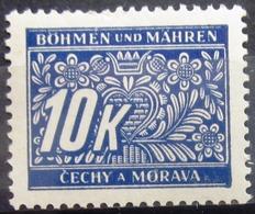 ALLEMAGNE Occupation En BOHEME-MORAVIE                TAXE 13                      NEUF* - Occupation 1938-45