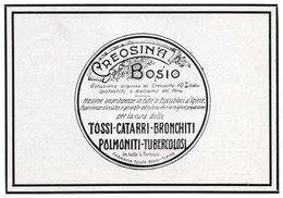 """IT--00123-- PUBBLICITA'  """" CREMOSINA BOSIO """" TOSSI CATARRI BRONCHITI POLMONITI TUBERCOLOSI TORINO - Immagine Tagliata"""