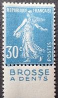 """R1189/503 - TYPE SEMEUSE CAMEE - N°140 (IIB) NEUF** BdF LUXE Avec Publicité """" BROSSE A DENTS """" - Publicités"""