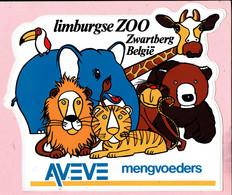 Sticker - Limburgse Zoo - Zwartberg België - AVEVE Mengvoeders - Stickers