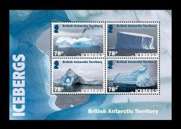 BAT 2019 Mih. 819/22 (Bl.28) Icebergs MNH ** - Britisches Antarktis-Territorium  (BAT)
