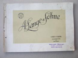 A. Lange & Söhne / UHREN - FABRIK GLASHÜTTE Bei DRESDEN ( Old Catalog, Prospect ..., For Watches RARE ) - Pubblicitari