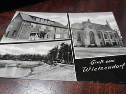 20029) LUNENBURGER HEIDE GRUSS AUS WIETZENDORF TRE VEDUTE VIAGGIATA 1975 MA CARTOLINA PIU' ANTICA - Lüneburger Heide