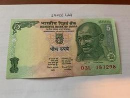 India 5 Rupees Gandhi Uncirculated Banknote - India