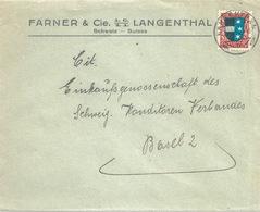"""Motiv Brief  """"Farner, Langenthal""""         1927 - Suisse"""