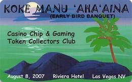 CCGTCC Early Bird Banquet Card August 2007 - Casino Cards