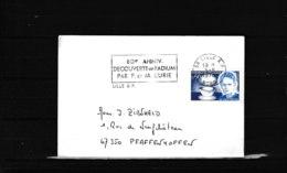 80e Anniversaire De La Découverte Du Radium Par P. Et M. Curie  5-5-1978 (2 Scans)  773 - Poststempel (Briefe)
