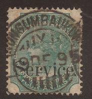EAST INDIA. QV. SERVICE. 4a GREEN. NUNGUMBAUKUM POSTMARK. USED - India (...-1947)