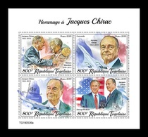 Togo 2019 Mih. 10782/85 President Of France Jacques Chirac. Nelson Mandela. George W. Bush. Concorde MNH ** - Togo (1960-...)