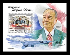 Togo 2019 Mih. 10786 (Bl.1950) President Of France Jacques Chirac. Concorde MNH ** - Togo (1960-...)