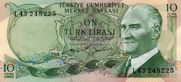 TURKEY=1970    10  LIRA     P-186    UNC - Turkey