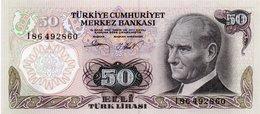 TURKEY=1970    50  LIRA     P-188    UNC - Turkey