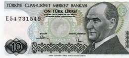 TURKEY=1970    10  LIRA     P-193    UNC - Turquia