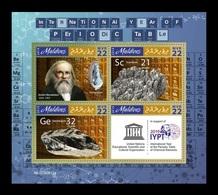 Maldives 2019 Mih. 8746/49 Chemistry. International Year Of The Periodic Table. Dmitri Mendeleev MNH ** - Maldivas (1965-...)
