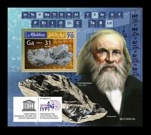 Maldives 2019 Mih. 8750 (Bl.1410) Chemistry. International Year Of The Periodic Table. Dmitri Mendeleev MNH ** - Maldives (1965-...)