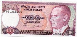 TURKEY=1970    100  LIRA     P-194a    UNC - Turquia