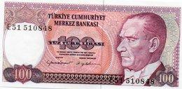 TURKEY=1970    100  LIRA     P-194b    UNC - Turkey