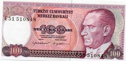 TURKEY=1970    100  LIRA     P-194b    UNC - Turquia