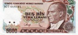 TURKEY=1970    5000  LIRA     P-198    UNC - Turquia