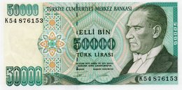 TURKEY=1970    50.000  LIRA     P-204    UNC - Turkey
