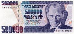 TURKEY=1970    500.000  LIRA     P-208    UNC - Turkey