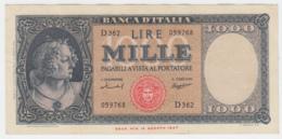Italy 1000 Lire 1959 VF++ Banknote Pick 88c 88 C - [ 2] 1946-… : République