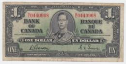 Canada 1 Dollar 1937 Gordon-Towers AVF Pick 58d 58 D - Canada