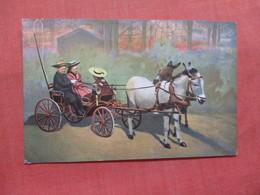 Children In Donkey Cart      Ref 3827 - Asino