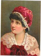 CHROMO LOUIT FRERES Et Cie BORDEAUX - MOUTARDE DIAPHANE - Portrait Belle Femme - VIP - - Louit