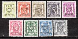 PRE529/37**  Petit Sceau De L'Etat - Année 1945 - Série Complète - MNH** - LOOK!!!! - Typo Precancels 1936-51 (Small Seal Of The State)