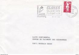 L4U195 HAUTE SAVOIE  Secap  Cluses Ville étape Tour De France 04 05 1994/ 1 Env.  Ent. - Marcophilie (Lettres)