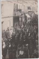 SAINTES CORTEGE FUNERAIRE ENTERREMENT RUE VICTOR HUGO CORBILLARD CALECHE LOT DE 7 PHOTO CARTES - Saintes