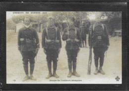 AK 0404  Croquis De Guerre 1914 - Groupe De Tirailleurs Sénégalais - Krieg, Militär