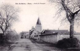 18 - Cher - FEUX - Route De Veaugins - Frankrijk