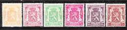 710/15**  Petit Sceau - Série Complète - MNH** - COB 6.50 - Vendu à 12.50% Du COB!!!! - 1935-1949 Small Seal Of The State