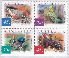 Australia 2001 Desert Birds Sc 1987a Mint Never Hinged Block - Mint Stamps