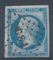 N°14 OBLITERATION LETTRE. - 1853-1860 Napoléon III