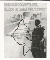 L'ORGANIZZAZIONE DEL BANCO DI ROMA NELL'IMPERO 1939 PUBBLICITA'  RITAGLIATA DA GIORNALE (1044) - Découpis