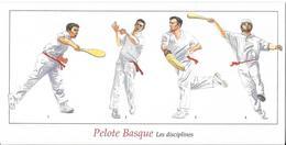 Pelote Basque - Les Disciplines (scan Recto-verso) - Cartes Postales