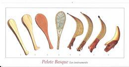 Pelote Basque - Les Instruments (scan Recto-verso) - Cartes Postales