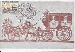 COB 1249 Sur CP Avec Cachet 1er Jour - Erinnerungskarten