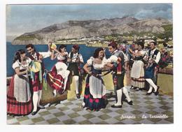 Italie Campania Folklore Italie Sorrento La Tarentelle La Tarentella Danse Costumes édiz Vincenzo Carcavello Napoli - Sin Clasificación