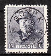 169  Roi Albert Casqué - Bonne Valeur - Oblit. Centrale Relais GOYCK - LOOK!!!! - 1919-1920 Roi Casqué
