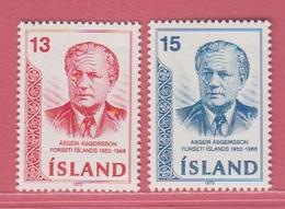 1973 **Islande  (sans Charn., MNH, Postfrish)  Yv  433/4Mi  480/1FA  517/8 - Neufs