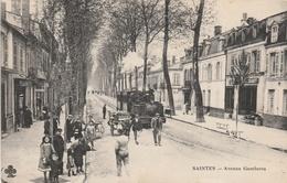 17-SAINTES-AVENUE GAMBETTA- AVEC LOCOMOTIVE--VOIR SCANNER - Saintes