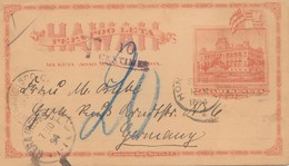 Hawai: 1894: Post Card To Gera/Germany, Taxe - Vereinigte Staaten