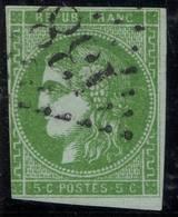 FRANCE ! Timbre CERES émission De Bordeaux De 1870 N°42Ba Vert Jaune Foncé - 1849-1850 Cérès