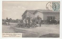 Maqueline De Macau - Médoc ( Gironde) Les Vendanges, Arrivée Des Wagons De Raisins, Ouvriers Au Travail, Patron à Cheval - France