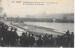 12/25    75   Paris    Inondations De Janvier 1910   Le Pont Royal & Les Bureaux De La Douane    (animations) - Inondations De 1910