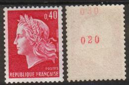 France N° 1536 Bc** Roulette Avec N° Rouge Marianne De Cheffer,  0.40 - Coil Stamps
